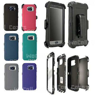 For Galaxy S6 Case Cover With Screen Protector Belt Clip fits Otterbox Defender
