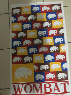 Vintage Wombat Pop Culture Pure Linnen Tea Towel