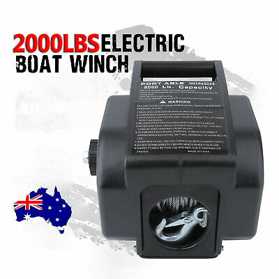 2000LBS / 907kg Detachable Portable Electric Winch 12V Marine Boat 4WD ATV OK