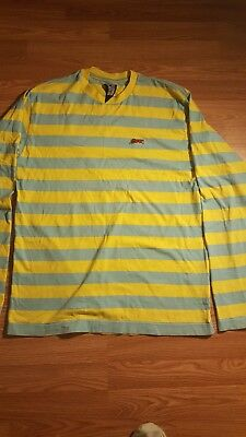 4b1dc5a00a5d Billionaire Boys Club Ice Cream Running Dog Striped Longsleeve Shirt Size L  RARE