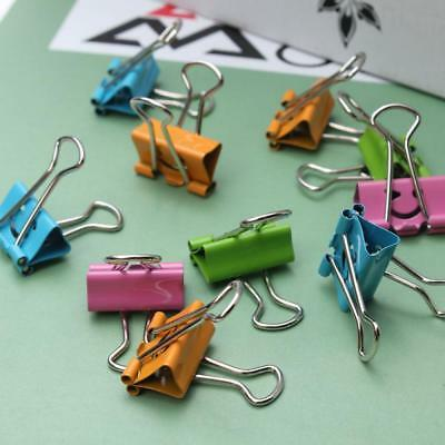 5pcs Lovely School Office Metal Smile Face Paper File Organizer Binder Clips