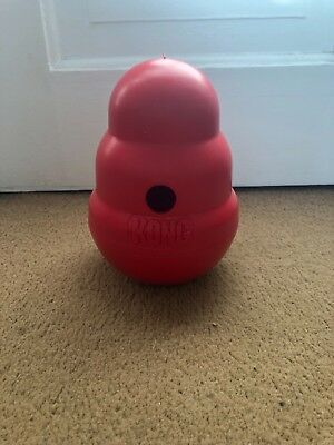 kong dog toy wobbler treat dispenser red medium-big dog