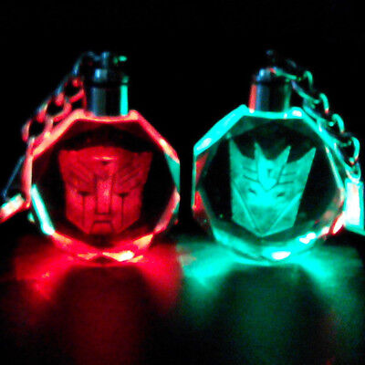 Transformers mask Crystal Key Chain LED light Pendant bling anime with box new