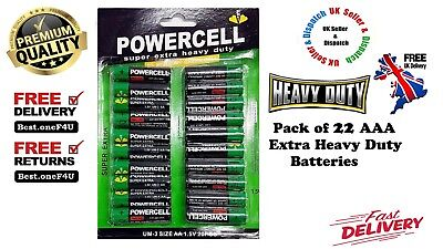AAA Batteries 22 Pack Power Cell Heavy Duty **Brand new: Cheap Price **