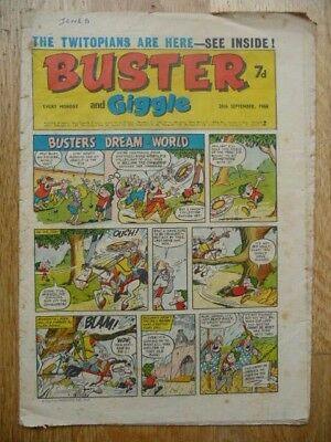Vintage Buster and Giggle Comic 28th Sept 1968 - Buster's Dream-World Cover