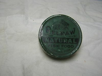 Vintage Relpaw Imported Natural Fish Food Tin Still With Food Inside