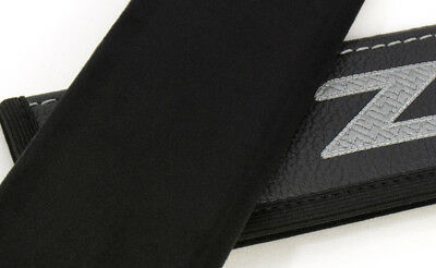 Car Seat Belt Shoulder Pads Covers BMW Z 4 Black Leather Embroidery Logo