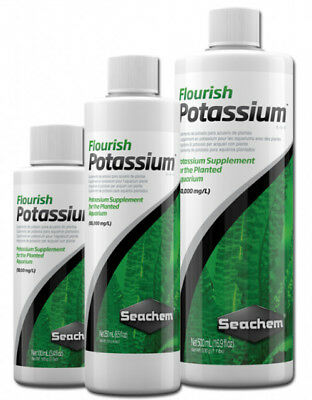 Seachem Flourish POTASSIUM Macro Nutrient Aquarium Plants Fertiliser 100ml-500ml