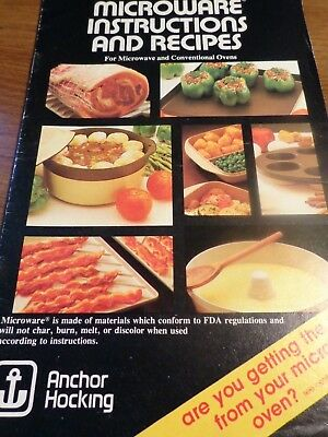 Anchor Hocking Microware Instructions and Recipes for Microwave and ovens