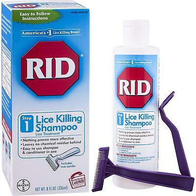 RID Lice Killing Shampoo, Proven Effective Head Lice Treatment for Kids and Nit