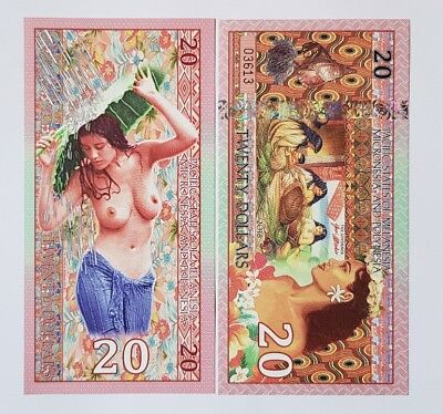 Pacific States of MMP 20 Dollars Private Issue 2018 - Polymer Polynesian Nude