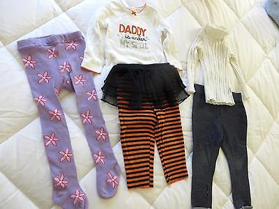 Girl Winter Bulk 5 Items Baby Toddler Size 1 CARTERS Tights Stockings Top Skivvy