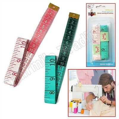 "2X Cloth Measuring Tapes 150cm 60"" Sewing Tailor Seamstress Soft Flat Body Rule"
