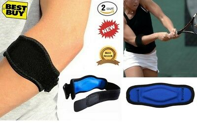 Tennis Golf Elbow Support Brace with Compression Pad Joint Pain Relief Men 2 Pcs
