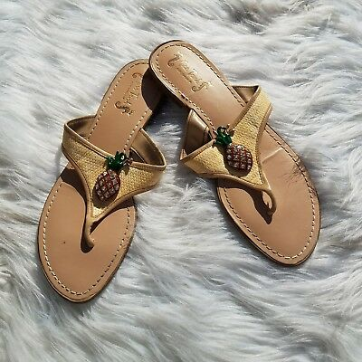 a482c7132 Miss Trish for Target Womens Pineapple Thong Slide On Flip Flops Sandals  Size 11