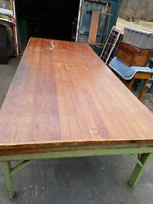 Vintage  Tongue & Groove Board Farm/harvest Table, Dining Room Table