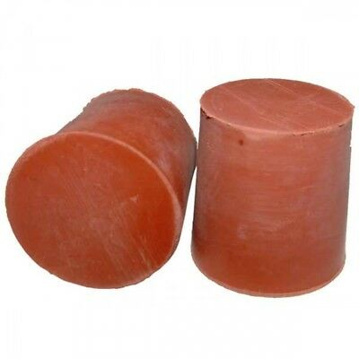 2 x  Rubber Stopper Bungs solid not drillFree P&P UK