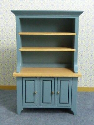 Dolls House Miniature 1:12 Scale Dresser Painted Teal Colour and Pine
