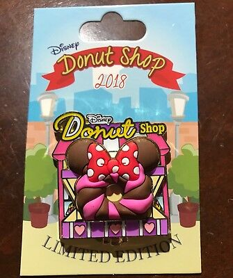 Minnie Mouse Disney Donut Shop Pin LE 3000 Parks Pin Of The Month 2018 April