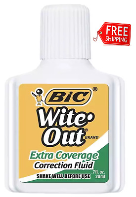 Cheap School Supplies White Out Quick Dry Wite Correction Fluid Foam Brush 7oz