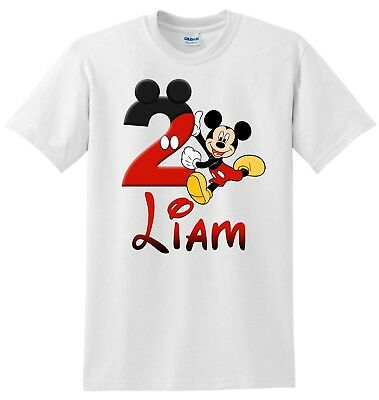 Mickey Mouse Birthday Shirt, Personalized Mickey Mouse Birthday Bodysuit