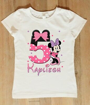 Minnie Mouse Birthday Shirt, Personalized Minnie Mouse Birthday Bodysuit