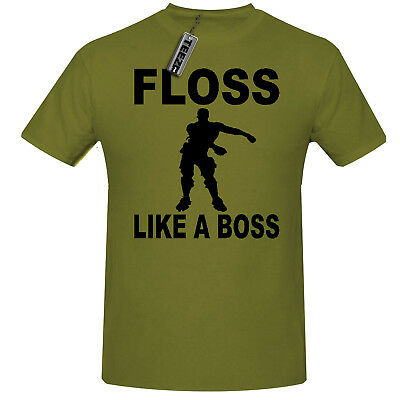 Floss Like A Boss t shirt,Children's Gaming t shirt in Khaki