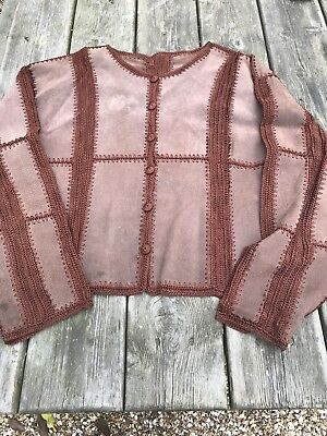 Suede and Crochet Jacket size 16