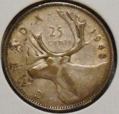 Canada Quarter - 1943 - King George VI - $1 Unlimited Shipping