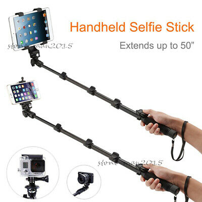 BLUETOOTH SELFIE STICK Monopod Tripod+Tablet Holder for iPad