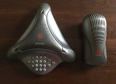 Polycom VoiceStation 100 Conference Phone with 100 Wall Module 220106846001
