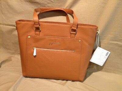 Ju Ju Be Ever Vegan Leather Everyday Tote w/ Changing Pad Brulee NWT