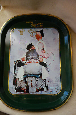 The Tattoo Artist - Norman Rockwell Vintage Serving Tray Drink Coca Cola Tray