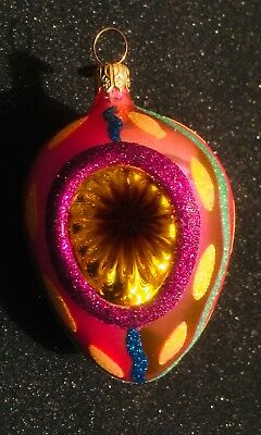 Radko EASTER BRIGHTS Reflector Egg Ornament Retired 2000 Purple