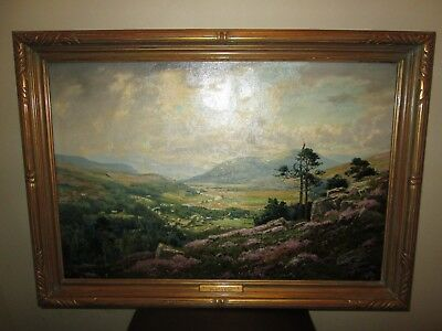 Original Oil Painting Listed Scottish George Melvin Rennie Landscape Scotland