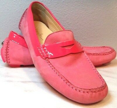 0818af6e3bc COLE HAAN Women s Trillby Driver Penny Loafers Pink Suede Leather Mocs  Shoes 6