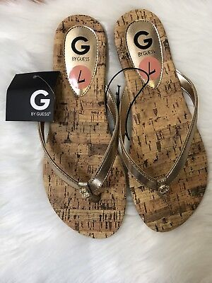 3cf93ebab GUESS JUSTYN PEWTER Leather Flat Sandals Open Toe Size 7 -  26.99 ...