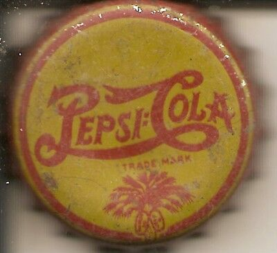 PEPSI:COLA  red/yellow  S. C. tax stamp palmetto tree soda pop bottle cap/crowns