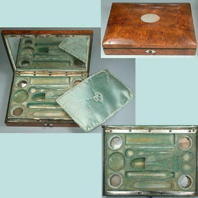 Antique Fitted Palais Royal Sewing Box * French * Circa 1820