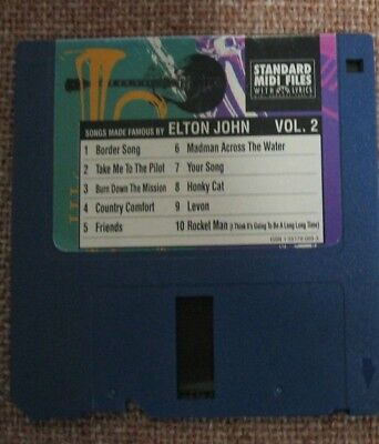 STANDARD MIDI FILES 3.5 DISKETTE SONGS made famous by elton john karaoke vol 2
