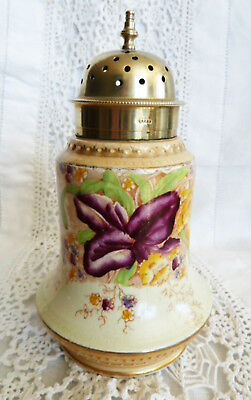 Antique Sugar Shaker William Wood & Co WW Co 1897 Muffineer Hatpin Holder EPNS L