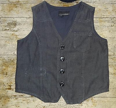 Next Boys Grey Cotton Waistcoat Age 3 - 4 Years Good Condition Worn Once