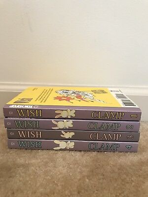 "Manga Series ""wish"" By clamp Complete 1-4"