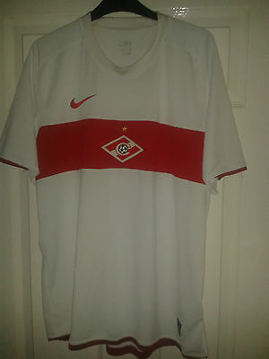 Mens Football Shirt - Spartak Moscow - Russia - Nike - Away 2009-10 - White - L