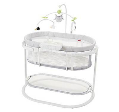 Fisher-Price Smart Connect Soothing Motions Bassinet in Grey
