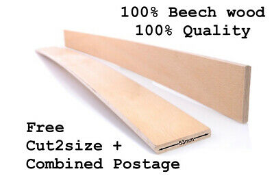 Replacement Bed Slats 100% Beech Wood Curved Sprung Single Double 53 mm wide.