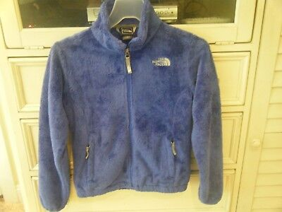 bafc60a9b GIRL'S THE NORTH Face Purple Oso Blue Jacket Sz M 10/12 Warm Thick ...