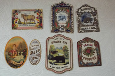 7 Different Very Nice  Cosmetic Labels.....fairly Rare
