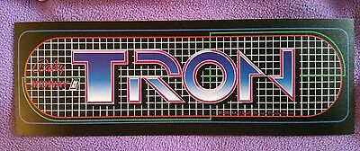 Tron arcade marquee sticker. 3.5 x 10.75. (Buy any 3 stickers, GET ONE FREE!)