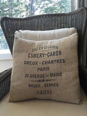 French grain sack pillow cover